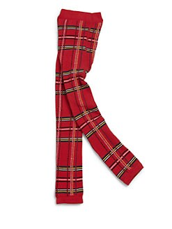 Junior Gaultier - Girl's Scottish Plaid Print Footless Tights
