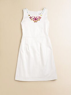 KC Parker - Girl's Beaded Sateen Dress