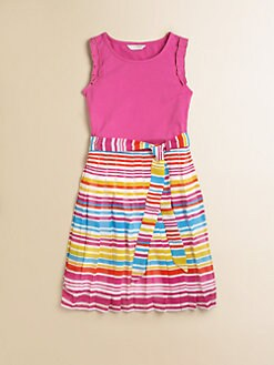 KC Parker - Girl's Striped Chiffon Dress