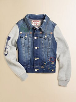 True Religion - Girl's Embroidered Emily Denim Jacket