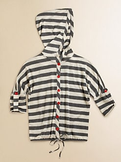 Kiddo - Girl's Striped Knit Hoodie