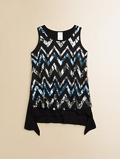 Kiddo - Girl's Zigzag Sequin Tank