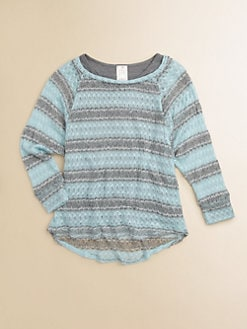 Kiddo - Girl's Layered Striped Sweater