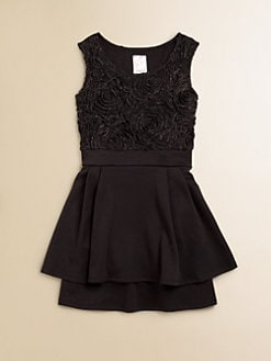 Kiddo - Girl's Rosette Peplum Dress