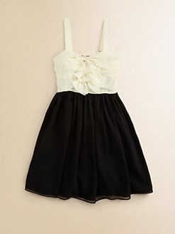 Kiddo - Girl's Ruffled Chiffon Dress