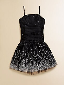Un Deux Trois - Girl's Shirred Embellished Party Dress