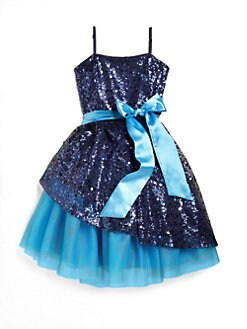 Un Deux Trois - Girl's Sequin Peek-A-Boo Dress