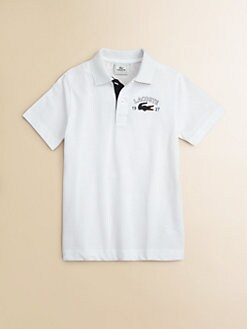 Lacoste - Boy's Oversized Croc Polo Shirt