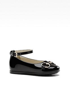 Gucci - Infant's, Toddler's & Girl's Charlotte Patent Leather Ballet Flats