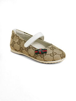 Gucci - Infant's, Toddler's & Girl's GG Ballet Flats