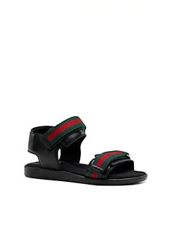 Gucci - Infant's, Toddler's & Little Boy's Gauffrette Leather Sandals