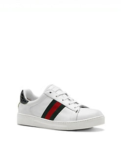 Gucci - Infant's, Toddler's & Kid's Ace Leather Lace-Up Sneakers