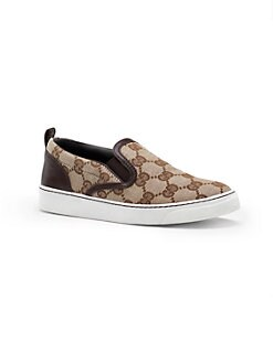 Gucci - Kid's Board GG Slip-On Sneakers