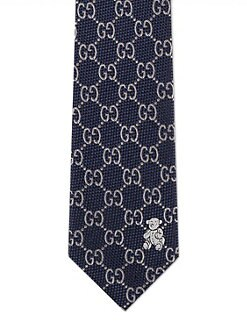 Gucci - Toddler's & Little Boy's Silk Logo Necktie