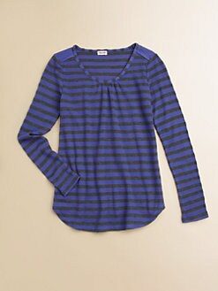 Splendid - Girl's Striped Waffle Knit Top
