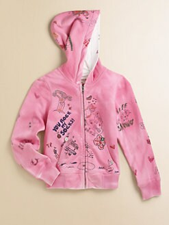 True Religion - Girl's Hand Drawn Cotton Hoodie