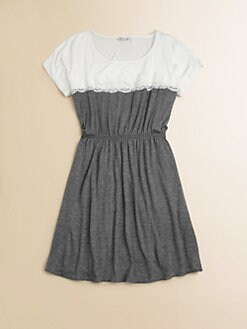 Sally Miller - Girl's Colorblocked Lace-Trimmed Dress
