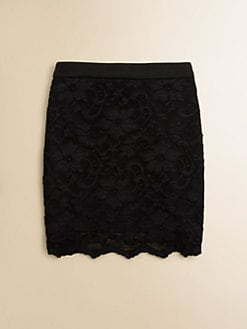 Sally Miller - Girl's Scalloped Lace Skirt