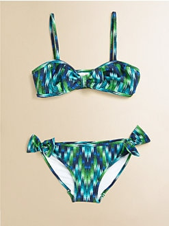 Milly Minis - Girl's Two-Piece Mini Sagaponack Bikini