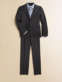 Armani Junior - Boy's Pinstriped Stretch Wool Suit