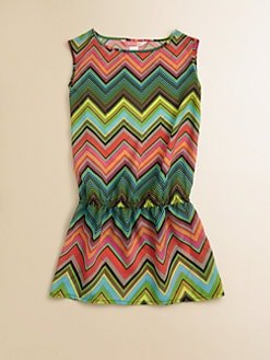 Ella Girl - Girl's Caravan Zig-Zag Coverup