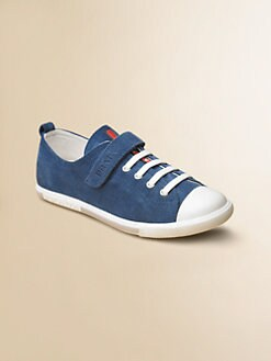Prada - Kid's Suede Sneakers