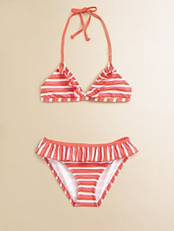 Ella Girl - Girl's Portofino Two-Piece Striped Bikini Set