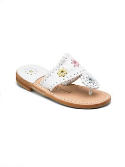 Jack Rogers - Little Girl's & Girl's Miss Navajo Palm Beach Sandals/Multicolor
