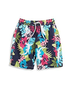 Vilebrequin - Boy's Floral Gecko Swim Trunks