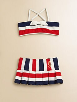 Juicy Couture - Girl's Port Stripe Two-Piece Swimsuit
