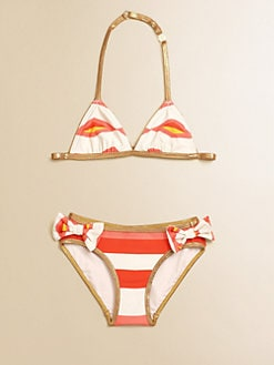 Little Marc Jacobs - Girl's Hayley Stripe Bikini