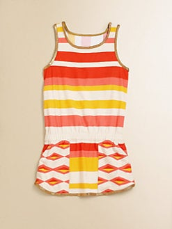 Little Marc Jacobs - Girl's Hayley Stripe Coverup