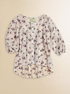 Kiddo - Girl's Floral Chiffon Top