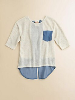 Kiddo - Girl's Knit Denim Top
