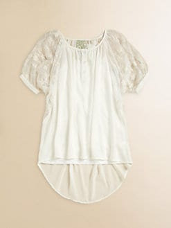 Kiddo - Girl's Lace Trim Chiffon Cami Top