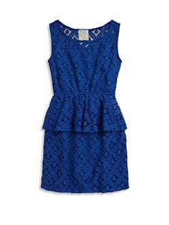 Kiddo - Girl's Crochet Peplum Dress