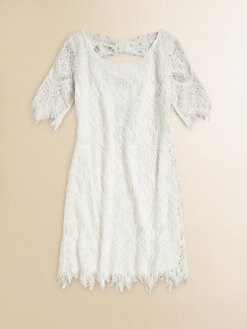 Kiddo - Girl's Lace Fringe Shift Dress