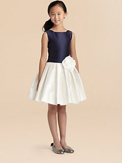Zoe - Girl's Two-Tone Rose Dress