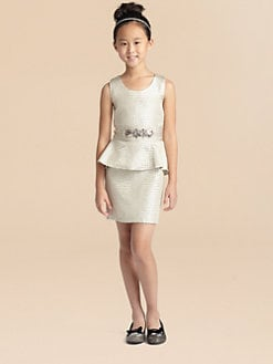 Zoe - Girl's Reptile Peplum Dress