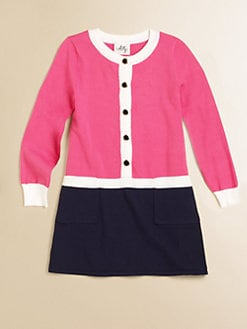 Milly Minis - Girl's Catie Combo Sweater Dress