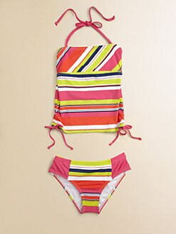 Splendid - Girl's Two-Piece Circus Striped Tankini Set