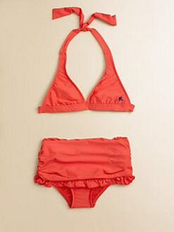 Splendid - Girl's Two-Piece Halter Bikini Top & Skirted Bottoms Set