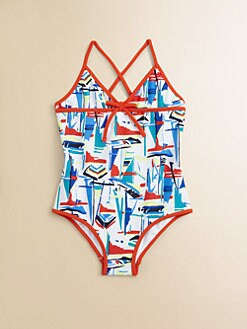Milly Minis - Girl's One-Piece Sailboats Swimsuit