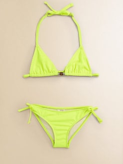 Milly Minis - Girl's Two-Piece Triangle Bikini Set