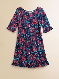 Lilly Pulitzer Kids - Girl's Fish Print Knit Dress