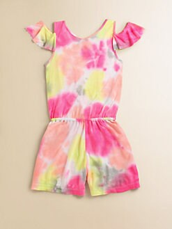 Flowers by Zoe - Girl's Tie-Dye Romper
