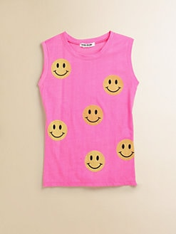 Flowers by Zoe - Girl's Smiley Face Top