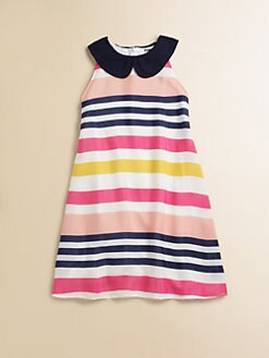 Flowers by Zoe - Girl's Stripe Collar Dress