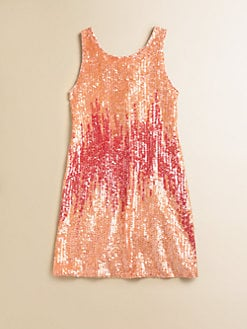 Flowers by Zoe - Girl's Sequined Tank Dress