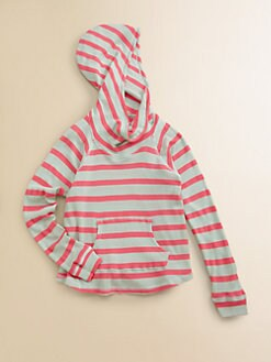 Splendid - Girl's Striped Waffle Knit Hoodie